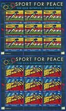 UN - NEW YORK . 2008 Beijing Olympics, 2 Sheets of 9 . Mint Never Hinged