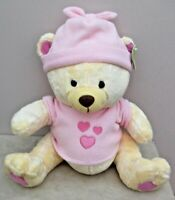 Cuddles Collection Large Teddy Bear With Pink Accessories Soft Plush With Tags