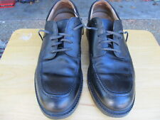 Men's Clarks Shoes Oxfords Genuine Leather Black Size 12 , MADE IN ITALY