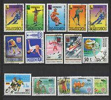 jEUX OLYMPIQUES ET SPORT années 80 MONGOLIE 15 timbres oblitérés  / T1433