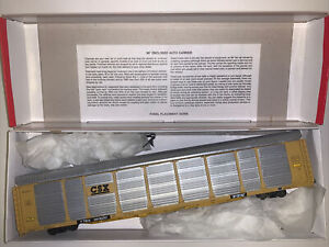 Walthers HO Scale 89' Enclosed Auto Carrier CSX No 941620 932-4809