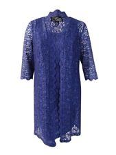 Alex Evenings Women's Plus Size Lace Sheath Dress and Jacket (14W, Deep Violet)