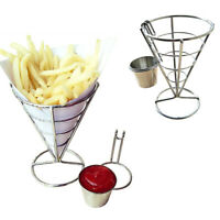 1 Dipper Cone Fries Dip Fry Sauce Snack Holder Food Party Bowl Serving Stand