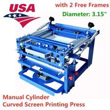 Usa Manual Curved Silk Screen Printing Press Cylinder For Cup Mug