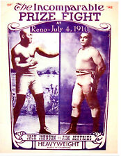 JACK JOHNSON JIM JEFFRIES 8.5X11.5 PHOTO POSTER  BOXING MATCH PROMO