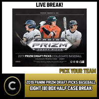 2019 PANINI PRIZM DRAFT BASEBALL 8 BOX (HALF CASE) BREAK #A617 - PICK YOUR TEAM