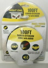 Night Owl 100Ft Bnc Security Camera Extension Video/Audio/Power Cable Cab100A