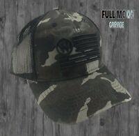 New Wrangler American Flag Camo Mens Snapback Trucker Cap Hat