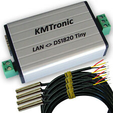 Internet LAN WEB Digital Temperature Monitor Controller, Four Sensors DS18B20