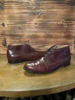 Bally Men's Ankle Chukka Forall Leather Boots Size US 9.5 D