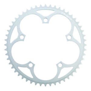 """SUGINO 130J 1/8"""" Chainring-Racing Track Bike Bicycle Silver 46T 48T 49T"""