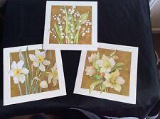 MARGARET TARRANT EASTER SPRING FLOWER CARDS (3)