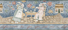 Tall Afternoon Tea Party Classic Blue Carol Endres 13 High Wall Wallpaper Border