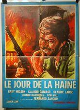 AFFICHE CINEMA 1967 LE JOUR DE LA HAINE Gary HUDSON Claudio CAMASO 55x76 litho
