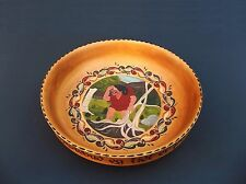 "Norwegian Rosemaling Art Wood Wooden Wedding Bowl Dish Large 9.75"""