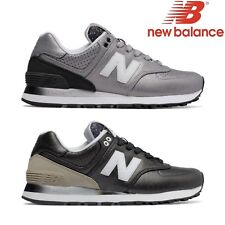 NEW BALANCE 574 scarpe ginnastica donna bambina pelle nera silver WL574 RAA RAC