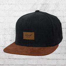 Reell Suede Cap Mütze Snapback Kappe schwarz braun Haube Capi Schildmütze Hat