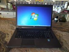 HP Zbook g2 17.3 256gb pcie & 512gb sata drive, 24gb memory NVIDIA Quadro K3100M