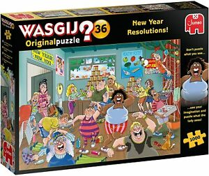 Wasgij Original 36 New Year Resolutions! Jigsaw Puzzle (1000 pieces)