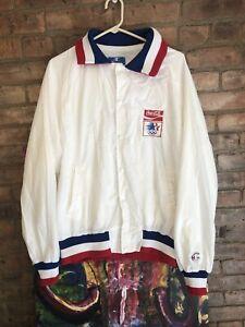 Men's Vintage 80s Champion Team USA Olympic Coca Cola Windbreaker Jacket Sz XL