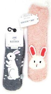 Jane And Bleecker Easter Bunny Rabbit Peter Cottontail Spring Slipper Socks 🐇