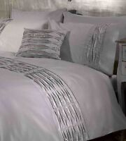 Belle Amie Crystal Diamante Quilt Cover Silver Grey Luxury Bedding Set #FREE P&P