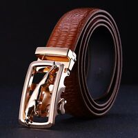 New Fashion Automatic Buckle Men's Waistband Genuine Leather Waist Strap Belts