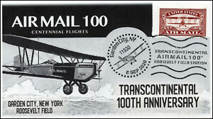 20-185, 2020, Airmail 100, Event Cover, Pictorial Postmark, Transcontinental