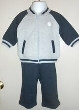 Gymboree Infant Boys Varsity MVP Jacket & Sweat Pants Gray & Navy 6-12M NWT