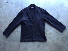 Naked & Famous Denim Heavy Knit Blazer Jacket sz Small Black