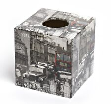 London Tissue Box Cover wooden handmade in UK