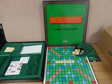 Vintage Scrabble DeLuxe With Rotating Turntable Board 1988
