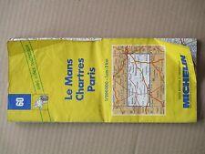 carte routiére Michelin N° 60 Le mans/Chartres/Paris