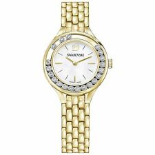 NEW SWAROVSKI LADIES LOVELY CRYSTALS GOLD WHITE WATCH 5242895 NEXT DAY DELIVERY