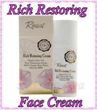 RosArt Rich Restoring Face Cream with Organic Rose Oil Certified by USDA 50 ml