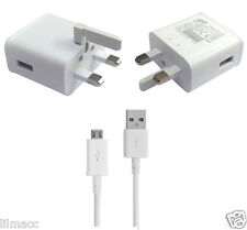 Genuine Samsung Galaxy UK Mains Charger with USB Cable - 2 Amp - For Tablets