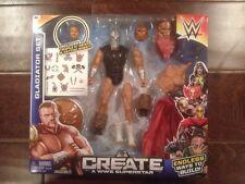 WWE CREATE A WWE SUPERSTAR GLADIATOR SET W/ TRIPLE H HEAD & TATTOO *NEW*