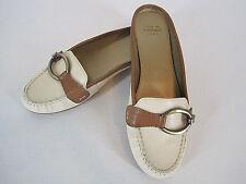 Circa Joan & David Luxe Golara Slide Mule Cream Tan Leather Women's Size 7M