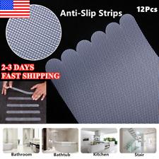 12x Anti Slip Bath Grip Stickers Non Slip Shower Strips Flooring Safety Tape Us