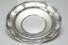 "Wallace Rose Point Sterling Silver 10 1/4"" Sandwich Plate, Pattern #5377 c.1934"