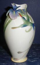 NIB - Franz FZ00246 Hummingbird & Iris Vase