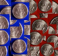 2007 P+D Kennedy Half Dollar Satin Strikes from Mint Sets ~ One Roll 10/10 Each