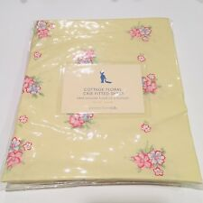 NEW POTTERY BARN KIDS Shabby Chic Cottage Floral Yellow Pink Crib/Toddler Sheet