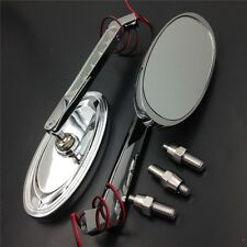 New LED Turn signal Oval Racing mirrors  for Harley Low Rider V-Rod CHROME