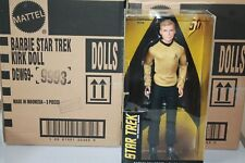 BARBIE CAPTAIN  KIRK 50TH ANNIVERSARY new shipped in padded mailer bag  read