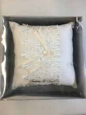 Hortense B. Hewitt Wedding Accessories Timeless Treasure Ring Pillow, Ivory, New