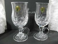 WATERFORD LISMORE SET OF TWO IRISH COFFEE GLASSES  NEW IN BOX