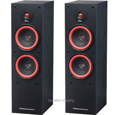 "Pair Set Cerwin Vega SL-28 Dual 8"" 2 Way Floor Standing Tower Speaker 300 Watt"