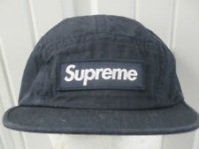 VINTAGE SUPREME METAL RING CAMP FIVE PANEL DARK BLUE CAP HAT F/W 2017 NEW W/ TAG