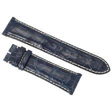 Hadley Roma 23 MM Blue Alligator Leather Strap